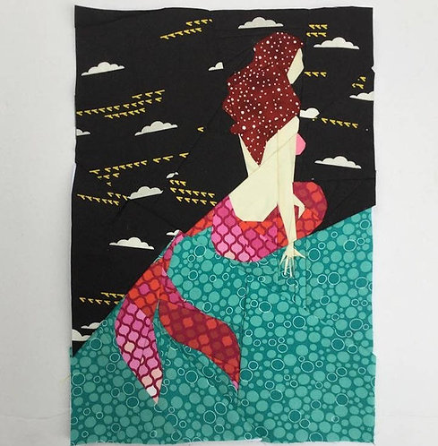 Sitting Mermaid Foundation Paper Piecing Pattern