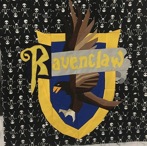 Ravenclaw House Crest Applique Letters Pattern