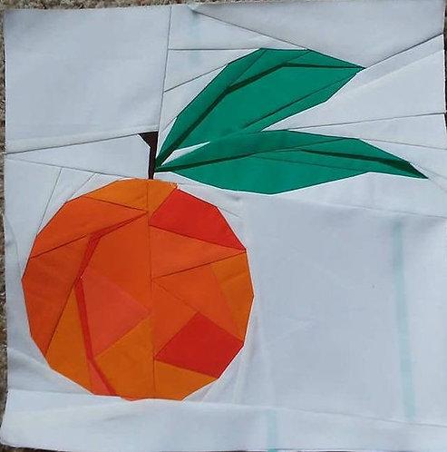 Geometric Peach Foundation Paper Piecing Pattern