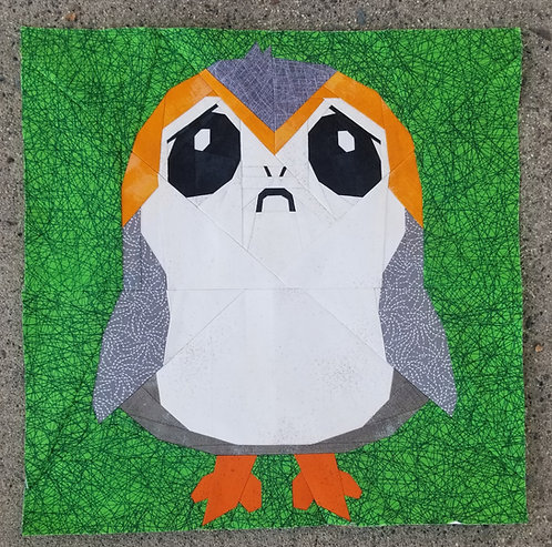 Porg Star Wars Foundation Paper Piecing Pattern