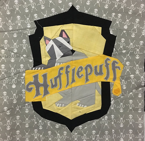 Hufflepuff House Crest Applique Letter Pattern