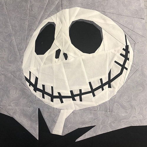 Jack Skellington Portrait Foundation Paper Piecing Pattern
