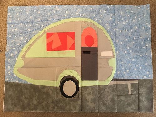 Tab RV Motorhome Foundation Paper Piecing Pattern