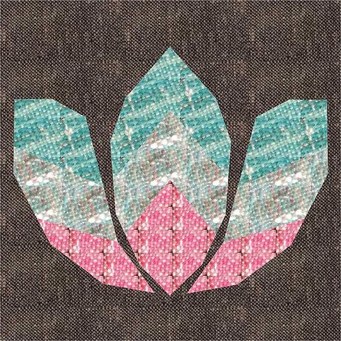 Lotus Flower Foundation Paper Piecing Pattern