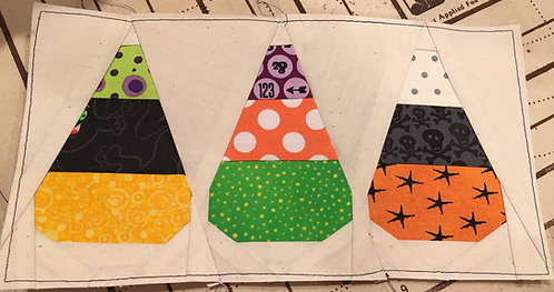 Candy Corn Foundation Paper Piecing Pattern