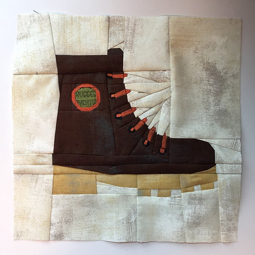 Hiking Boot Foundation Paper Piecing Pattern
