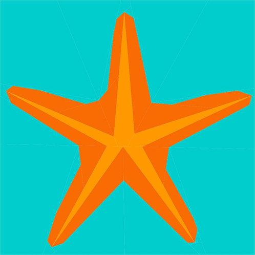 Starfish Foundation Paper Piecing Pattern