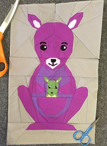 Kangaroo Foundation Paper Piecing Pattern