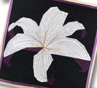 Stargazer Lily Flower Foundation Paper Piecing Pattern