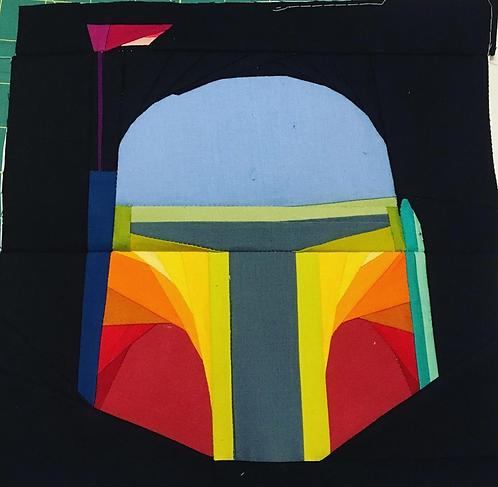 Boba Fett Star Wars Foundation Paper Piecing Pattern