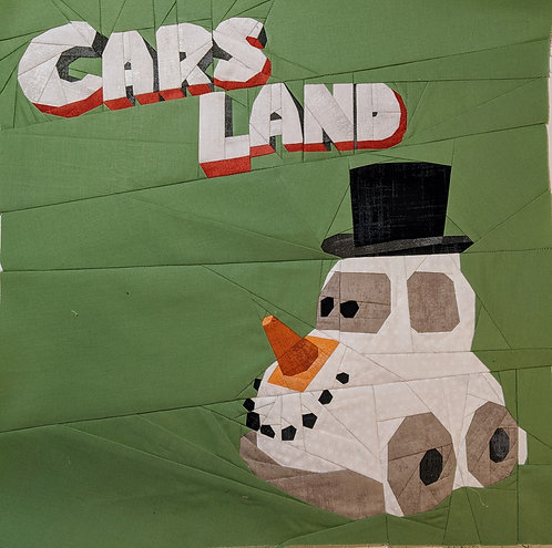 Disneyland Cars Land Snow Car Foundation Paper Piecing Pattern
