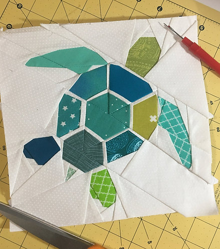 Turtle Foundation Paper Piecing Pattern
