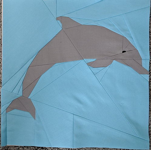 Dolphin Jumping Foundation Paper Piecing Pattern
