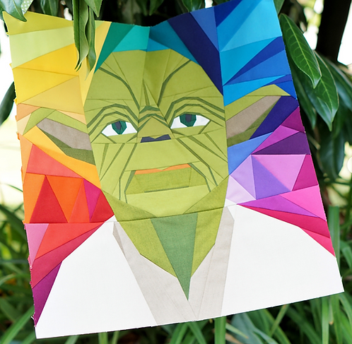 Yoda Star Wars Foundation Paper Piecing Pattern