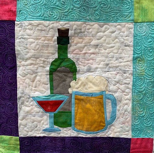 Food Truck Wine and Beer Foundation Paper Piecing Pattern
