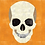 Thumbnail: Full Skull Front View Foundation Paper Piecing Pattern