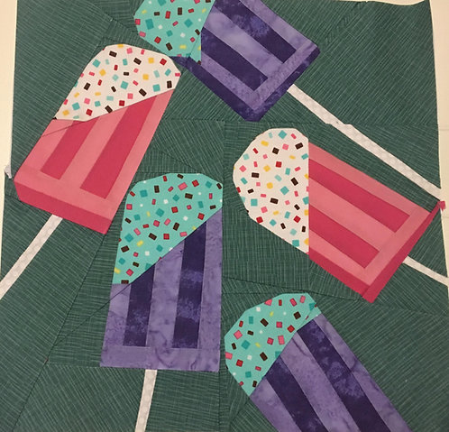 Popsicle Ice Cream Foundation Paper Piecing Pattern