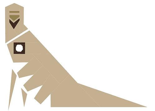 Aztec Bird Art Foundation Paper Piecing Pattern