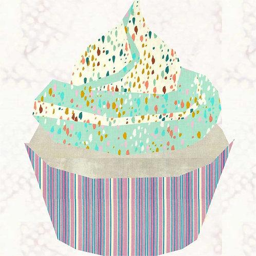 Cupcake Swirl Foundation Paper Piecing Pattern