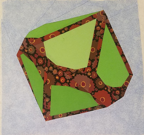 Gem or Dice D10 Version 2 Foundation Paper Piecing Pattern