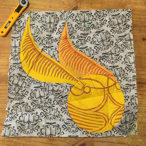 Golden Snitch Foundation Paper Piecing Pattern