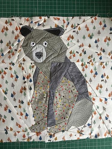 Bear Foundation Paper Piecing Pattern
