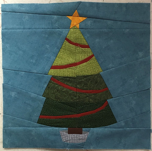 Decorated Christmas Tree Foundation Paper Piecing Pattern