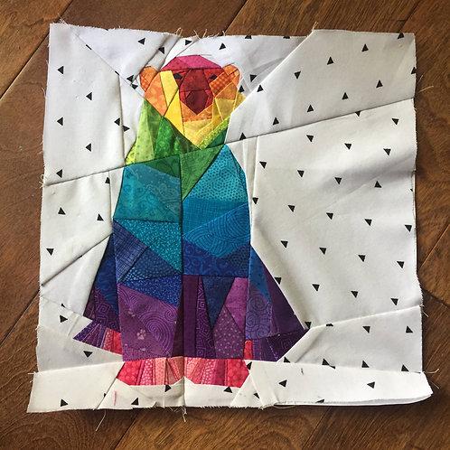 Geometric Polar Bear Foundation Paper Piecing Pattern