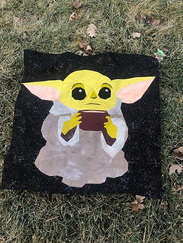 Baby Yoda Foundation Paper Piecing Pattern