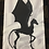 Thumbnail: Thestral Harry Potter Mythical Creature Foundation Paper Piecing Pattern