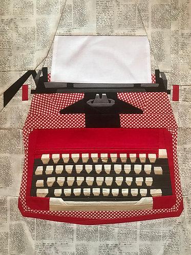 Vintage Typewriter Foundation Paper Piecing Pattern