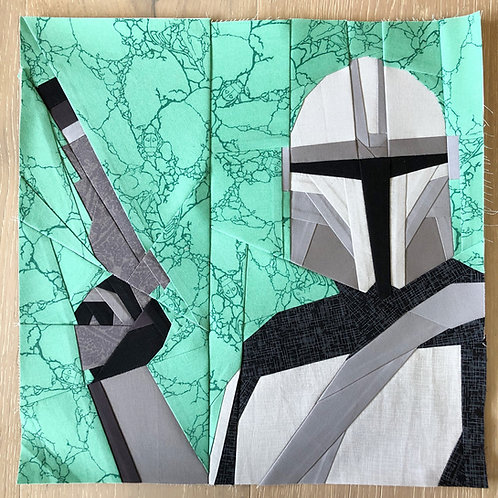 Mandalorian Foundation Paper Piecing Pattern