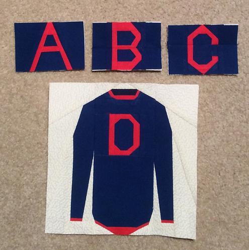Weasley Sweater Alphabet (A-Z) Foundation Paper Piecing Pattern