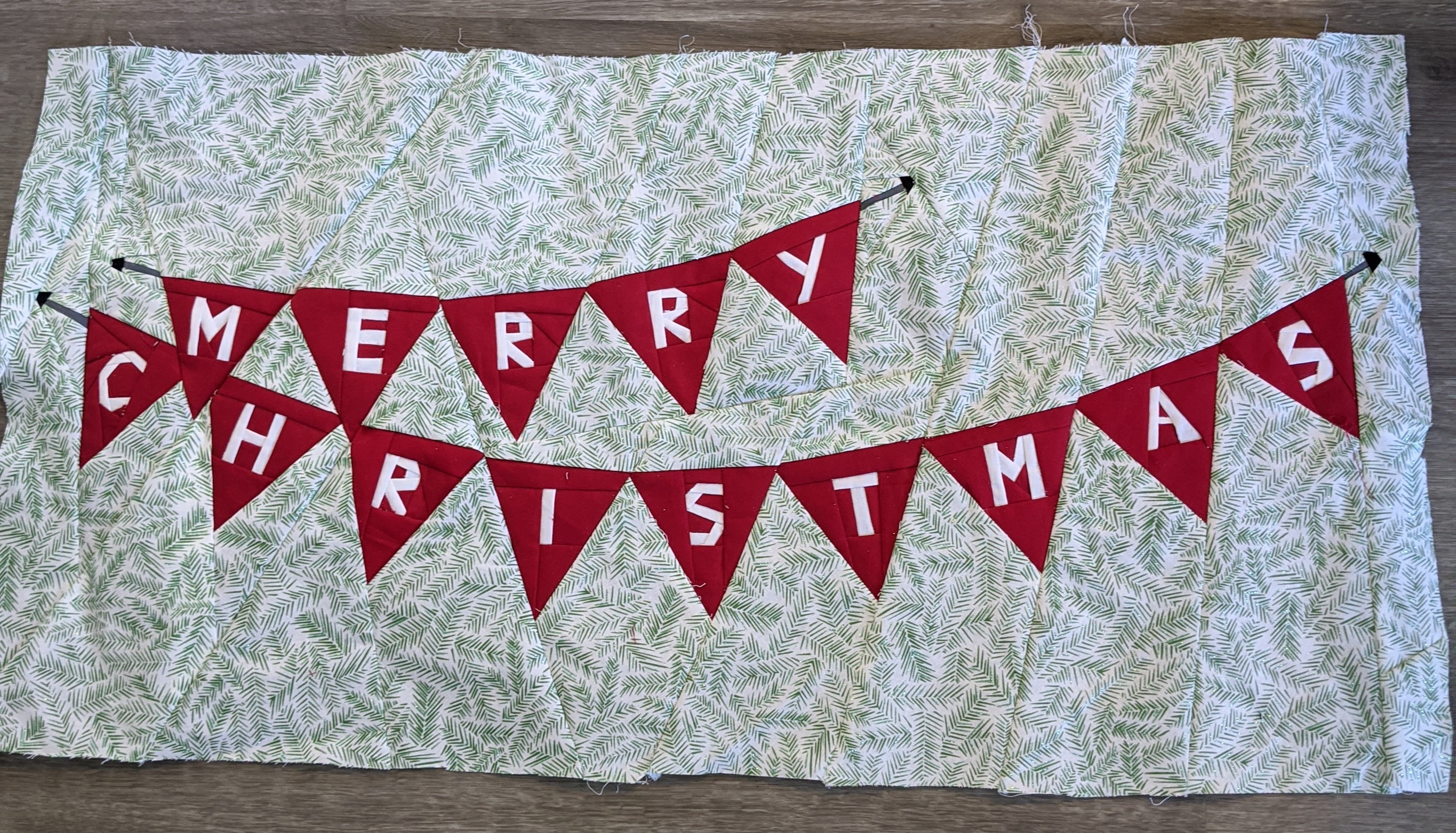 Christmas Banner Foundation Paper Piecing Pattern Pitcher S Boutique