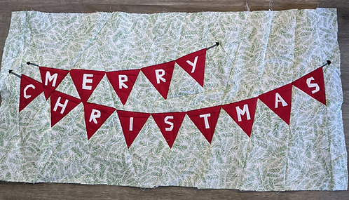 Christmas Banner Foundation Paper Piecing Pattern