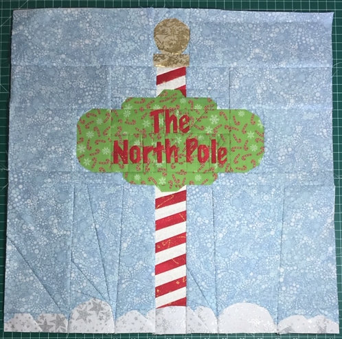 North Pole Sign Foundation Paper Piecing Pattern