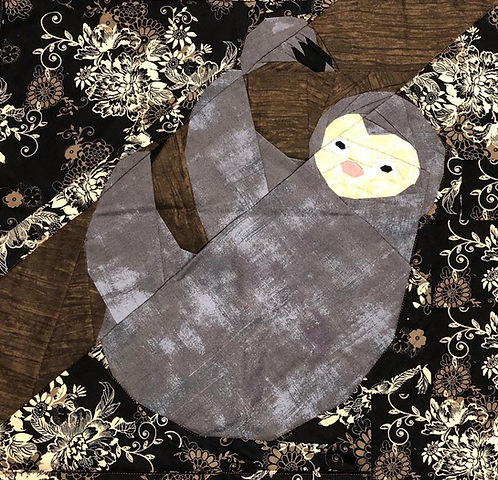 Sloth Foundation Paper Piecing Pattern