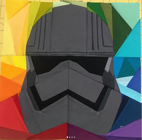 Geometric Rainbow Captain Phasma Foundation Paper Piecing Pattern