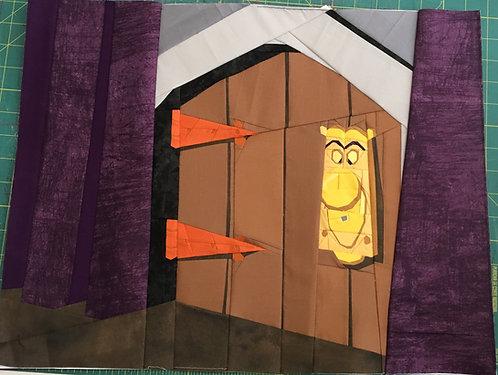 Alice and Wonderland Door Knob Foundation Paper Piecing Pattern