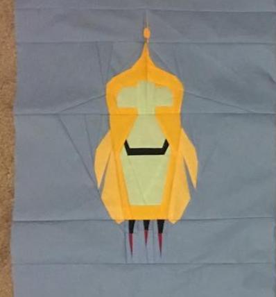 Willy Wonka Elevator Foundation Paper Piecing Pattern