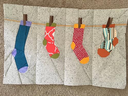 Hanging Socks Foundation Paper Piecing Pattern
