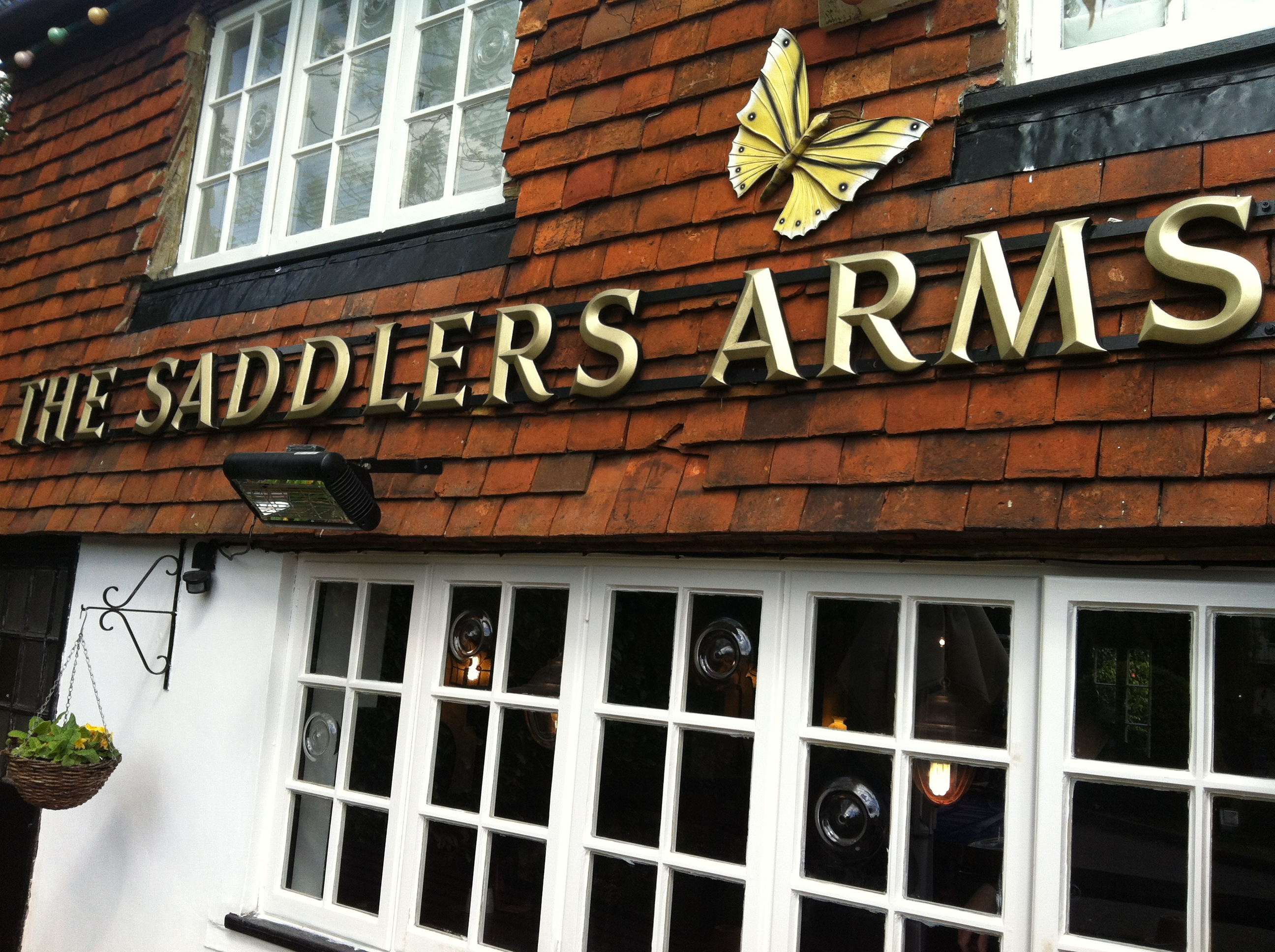 The Saddlers sign