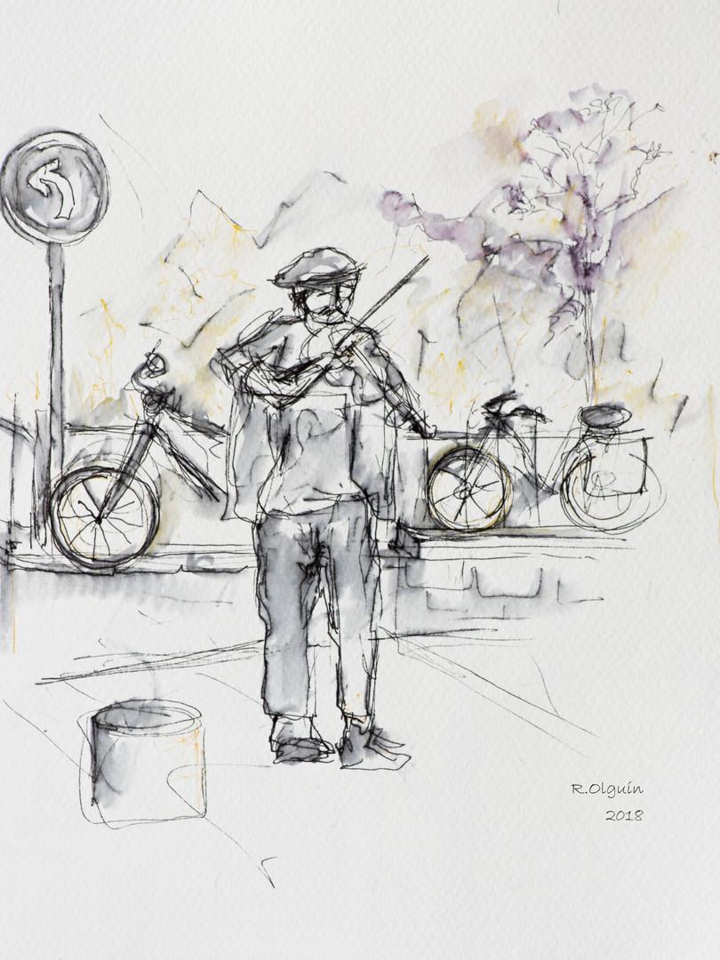 Músico en París