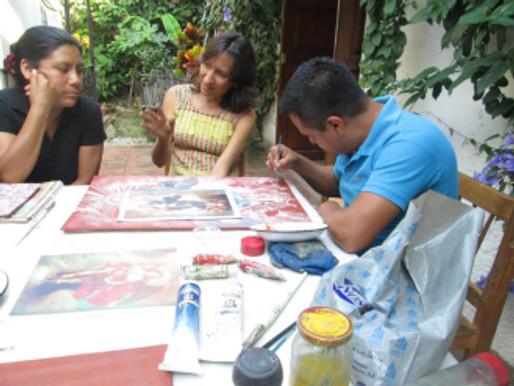 Clase de temple en Tallleres Comunitarios Zegache (Oaxaca)