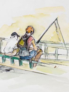 De pesca en el Sena
