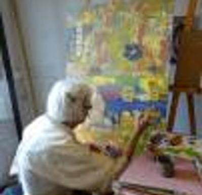 Pintando altar de Día de Muertos (2013)