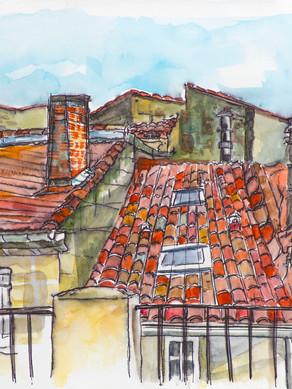 Terraza en Arles, Francia