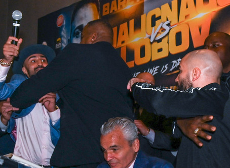 Heated exchanges between Lobov, Malignaggi at Bare Knuckle FC 6 presser