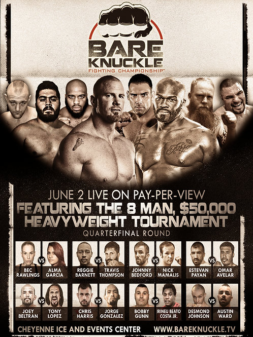 Bare Knuckle FC 1 Event Poster