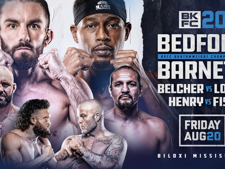 Order and watch BKFC 20 - Bedford vs. Barnett Jr. 2 - Results here